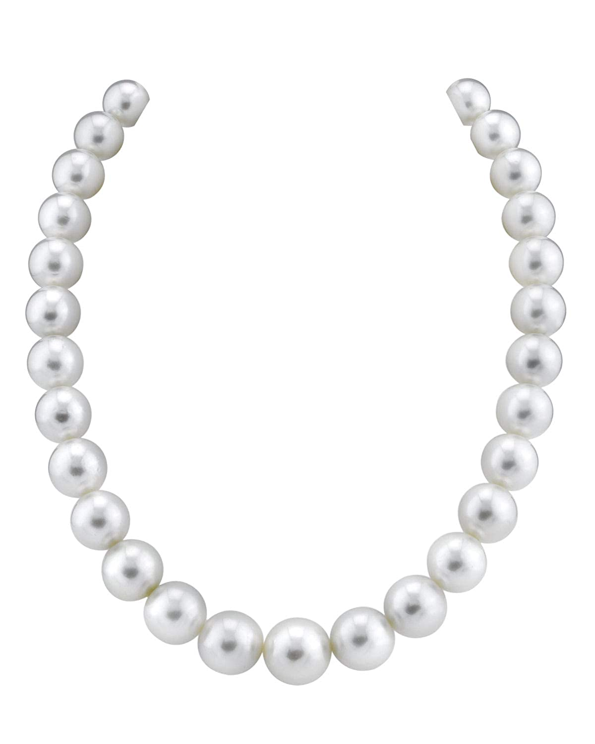 """16/"""" AAAA 7-8mm White Pearl Necklace 14K White Gold Clasp Cultured Freshwater"""
