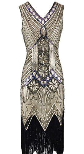 Tassel Sequin Women Edge V Dress Irregular Neck Package Hem Coolred 1 Hip gatO7xt