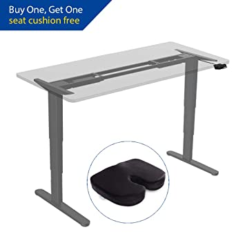 FlexiSpot Height Adjustable Electric Standing Desk Frame Three-Stage ...