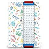 LEGO Stationery - Journal with Band (White) and Building Bricks