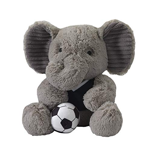 Lambs & Ivy Future All Star Plush Elephant Blazer, Blue/Gray