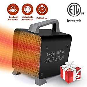 Amazon Com Space Heater 1500w Ceramic Space Heater With