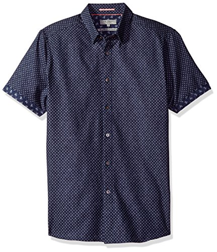 Ted Baker Short Sleeve Shirt Indee in Navy