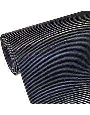 Mat met fijne groef, 3 mm dik, breedte (tot 1800 mm) en lengte (tot 10 m), selectie: breedte 400 mm (40 cm) x lengte 2500 mm (250 cm) - groeven in lengte - rubbermat rubberloper