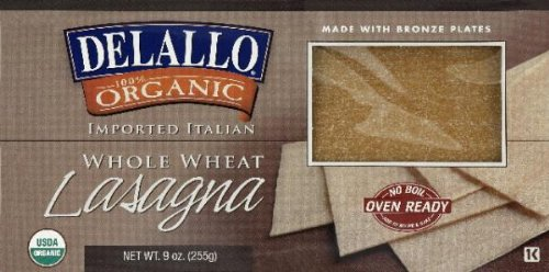 Delallo Lasagna Whole Wheat, 9 oz