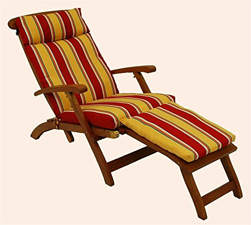 - Blazing Needle Designs Cushion for Steamer Deck Lounger (Wheat)