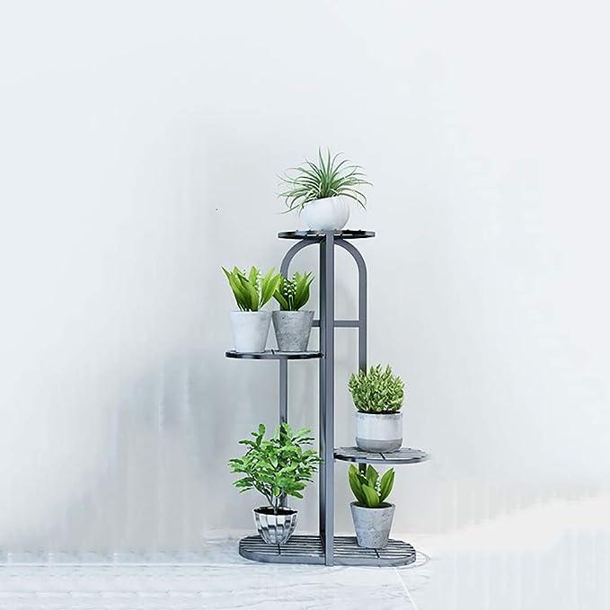 Puesto de plantas Soporte vertical para flores de hierro forjado ...