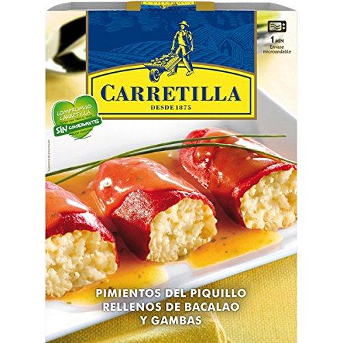 Pimientos Del Piquillo Rellenos De Bacalao Y Gambas Carretilla 280G: Amazon.es: Alimentación y bebidas
