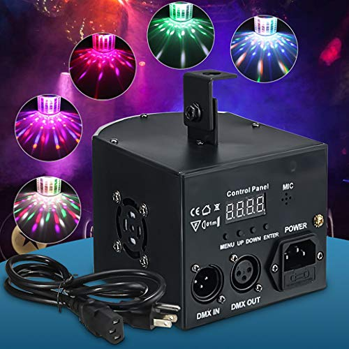 (Gotian DJ Lighting Dance Party Show Effect Light LED RGB DMX512 for Dance Parties Bar, DMX, Sound Activated, Master and Slave, Auto-Play, Hopping and Strobe Lighting)