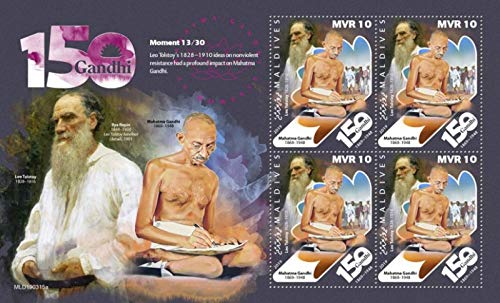 Maldives - 2019 Mahatma Gandhi Moments - 4 Stamp Sheet - MLD190315a