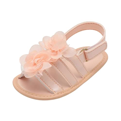 e4a470468edf4 Lanhui Infant Baby Girl Sandals Floral Lace Crib Shoes Soft Sole Anti-Slip