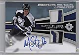 2015-16 Upper Deck Ultimate Collection - Signature Material Laureates #SML-MS - Tier 1 - Martin St. Louis