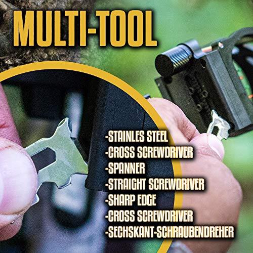 Holtzman's #1 Best Paracord Keychain Carabiner Survival Tool (Elite) by Holtzman's Gorilla Survival (Image #5)