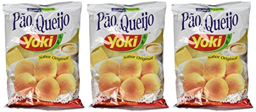 (Cheese Bread Mix - Mistura para Pão de Queijo - Yoki - 8.80 oz (250g) - (Pack of 03) - GLUTEN-FREE)