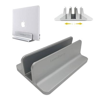 Lumsburry - Soporte Vertical Ajustable para Ordenador portátil, Aluminio, para Escritorio, Ahorro de