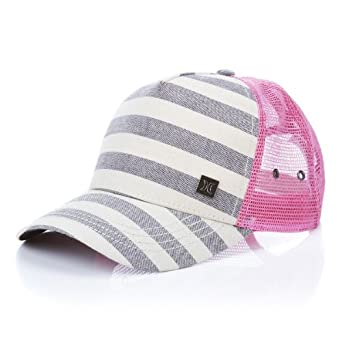 cb12696c Hurley Mother Trucker Gray Vintage-Pink Juniors Trucker Hat at ...