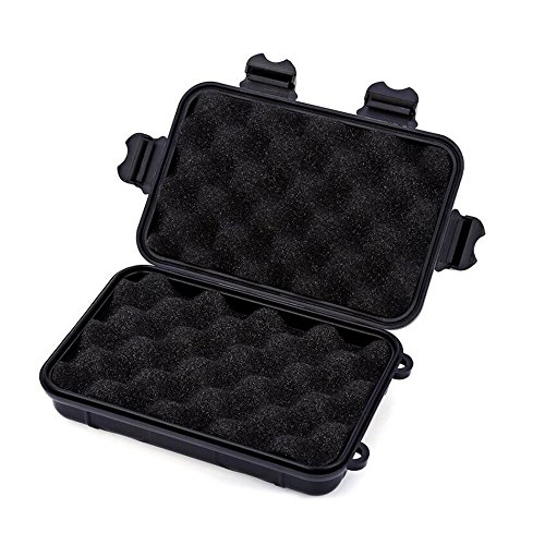 Broadhead Case Holder Plastic Portable Hunting Arrowheads Box for Archery Arrows & Crossbow Bolts Black-L