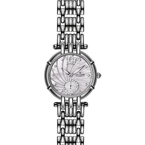 Charmex Pisa 6140 31mm Silver Steel Bracelet & Case Synthetic Sapphire Women's Watch