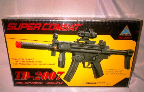 TD-2021 Military Super Combat Toy Gun With Vibration Sound /& UV Radiation