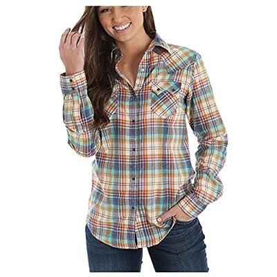 Wrangler Women's Multi-Color Plaid Long Sleeve Western Shirt - Lw1856m