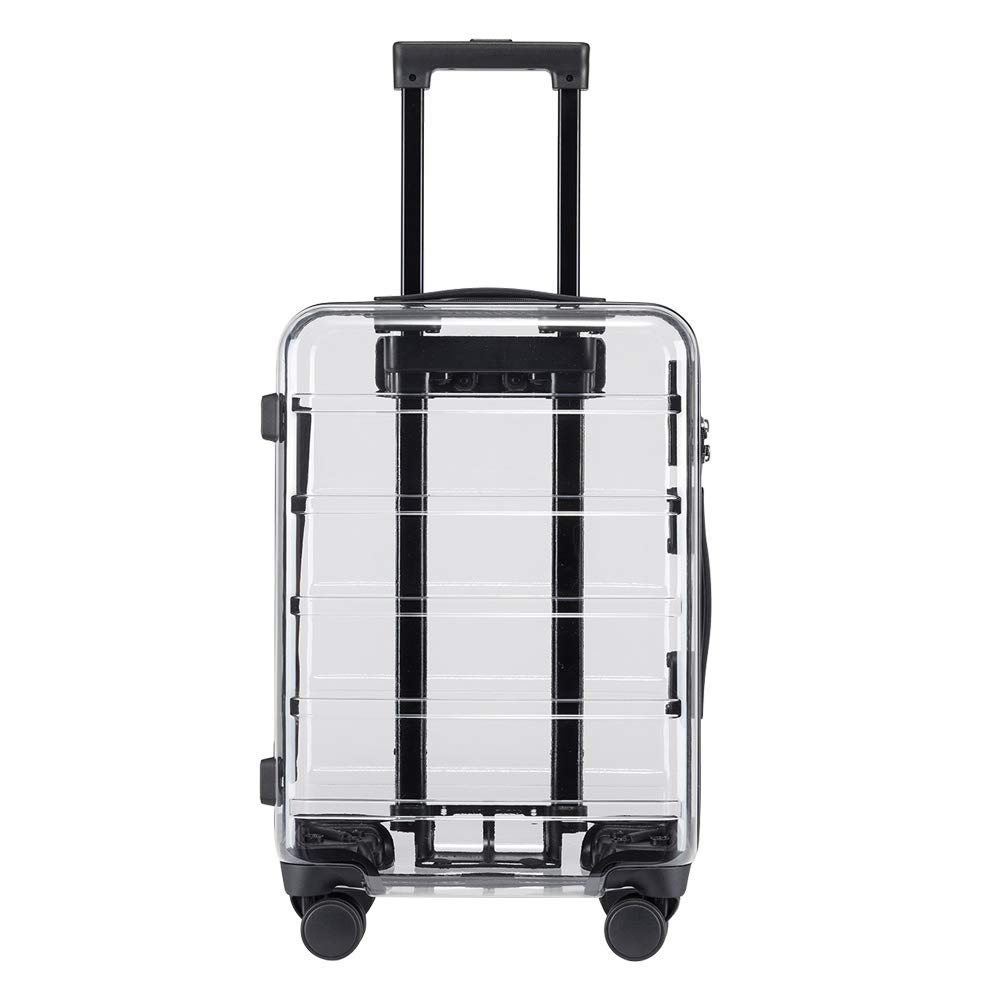 Ginza Travel PC Material Transparent Clear Lightweight Spinner Suitcase luggage 20