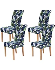 smiry Stretch Printed Dining Chair Covers, Spandex Removable Washable Dining Chair Protector Slipcovers for Home, Kitchen, Party, Restaurant