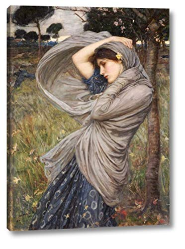 "Boreas by John William Waterhouse - 8"" x 11"" Gallery Wrapped Giclee Canvas Print - Ready to Hang"