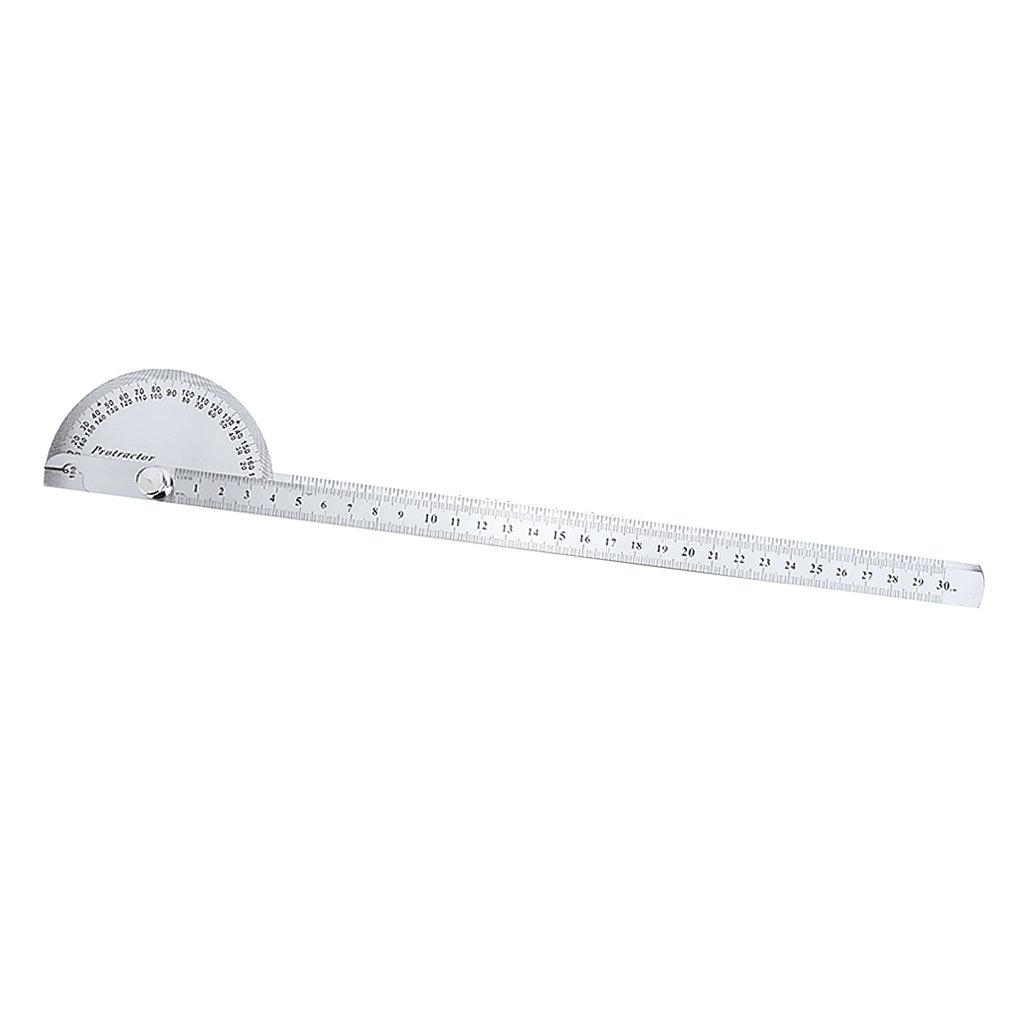 MagiDeal Stainless Steel Ruler & Gauge Protractor Square Divider Drill Point