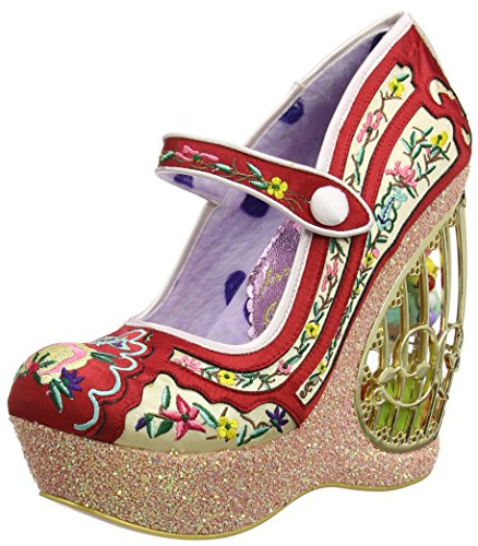 Irregular Choice Women's Ava's Avairy Closed-Toe Heels Red (Red) gXKZUcG