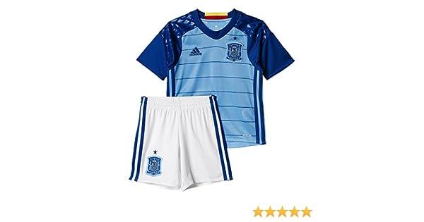 Adidas 1ª equipación Selección Española de Futbol 2016-2017 - Conjunto Camiseta y pantalón Corto Oficial: Amazon.es: Zapatos y complementos