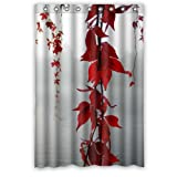 """Mayers 48""""(W) x 72""""(H) 100% Polyester Poetry Red Leaf Hanging Over The River Fashion Trend Shower Curtain,Bathroom Curtain"""