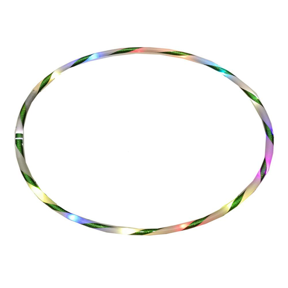 Yunnuopromi 90cm Led Hula Hoop Colorful Flashing Light Lose Weight On Pinterest And Hoops Tool For Fitness Sports Garden Outdoors