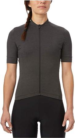 New Giro Women/'s Ride Jersey Cycling Bike Large Black Short Sleeve Top Merino