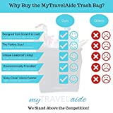 MyTravelAide Unique Car Trash Can - Premium, Leakproof, Hanging Garbage Bag for Vehicles