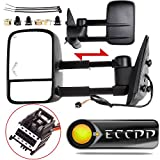 ECCPP Towing Mirrors Replacement fit for 2008-2013 Chevy Avalanche Tahoe Silverado Suburban GMC Sierra 1500 Yukon Power Heated Arrow Signal Towing Mirrors