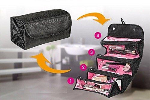 1817f3900b0b TUZECH Portable Large Cosmetic Bag (Roll and Go) For Women