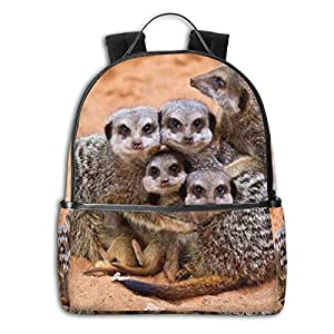 Animal Animals Baby Animals Cubs Family Hugs Meerkat Multi-Functional College Bags Students Casual Daypack Travel…