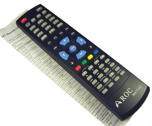 ROC Multi-Sat V2 Universal Remote Control for all Satellite TV Receiver iLink i-Link IR-210 IR210 HDMI 8000 (code 005); Sonicview Permier 360 Elite Hd 8000; Captiveworks Cw 600 700 800 600s 650; Nfusion Nova Solaris; Pansat 3500sd 2700a 2700 3500 6000hx