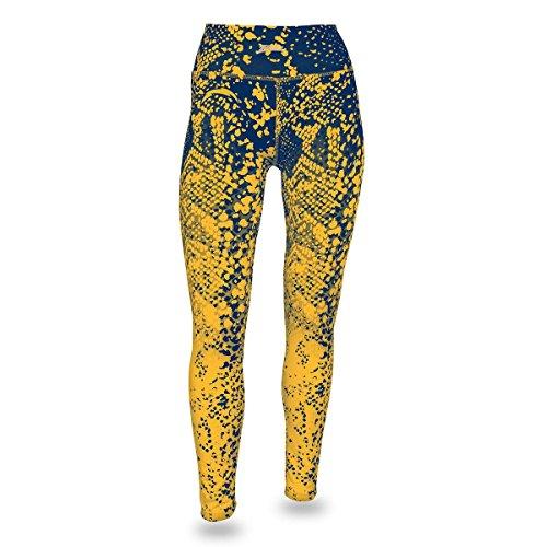 Zubaz NFL San Diego Chargers Women's Gradient Print Team Logo Leggings, Medium, Navy/Gold