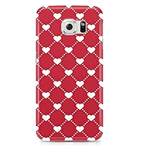 Samsung S6 case Cute Heart Pattern For Valentines Day And Loved Ones, Great For Girls-Sleek Finish Durable Wrap Around Phone Cover 58