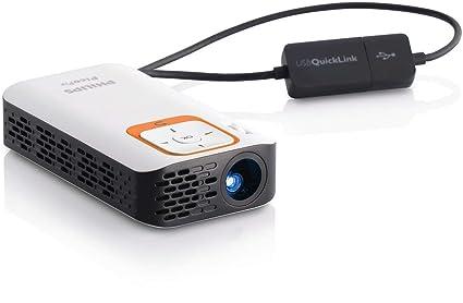 Amazon.com: Philips PicoPix PPX2340/F7 Pico proyector, 40 ...