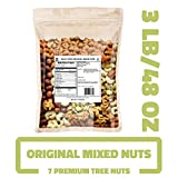 Daily Nuts Bulk Mixed Nuts (Original - PREMIUM TREE NUTS ONLY, 3 LB), UN-SALTED, NON-GMO, CERTIFIED GF, KOSHER CERTIFIED
