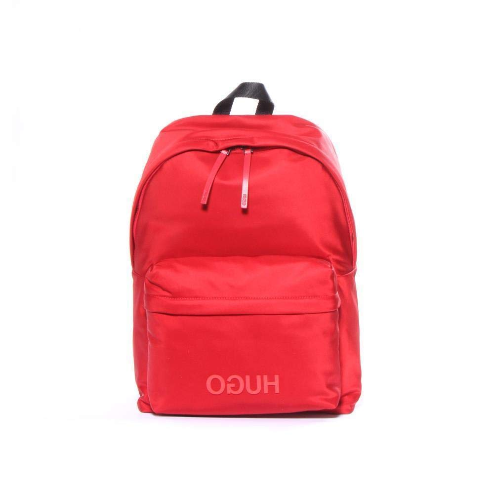Hugo Boss ACCESSORY メンズ B079DCT7CK Record Nylon Backpack Bright Red One Size