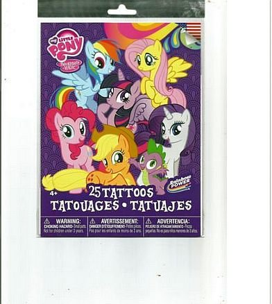 My Little Pony Temporary Tattoos - 25 Count -  Savvi, 1001156956