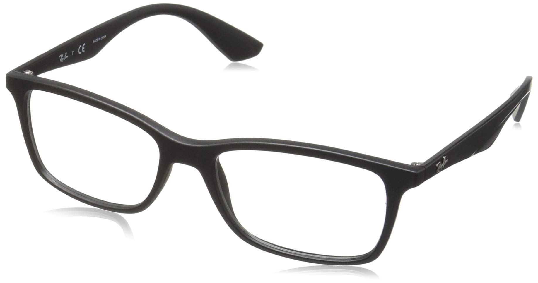 Ray-Ban RX7047 Rectangular Eyeglass Frames, Matte Black/Demo Lens, 54 mm