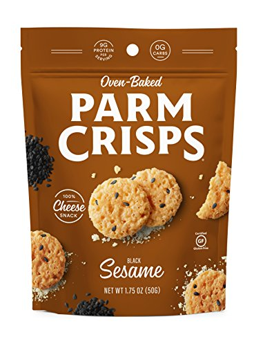 ParmCrisps Sesame, 1.75 Ounce (Pack of 12), 100% Cheese Crisps, Keto Friendly, Gluten Free