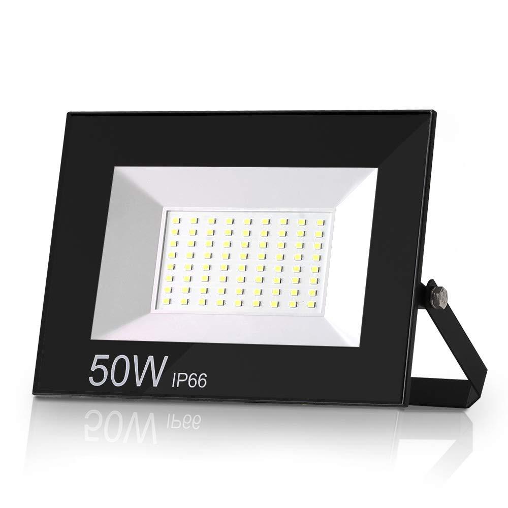 Luz de Seguridad Blanca Fr/ía 3000K para Terraza Parque Potente Luces Led Exterior IP66 Jard/ín Garaje Patio Lote de 2 Focos LED exteriores 10W 900LM