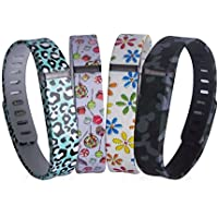 Ddup 4Pcs Replacement Fitbit Wristbands For Flex Key Pieces