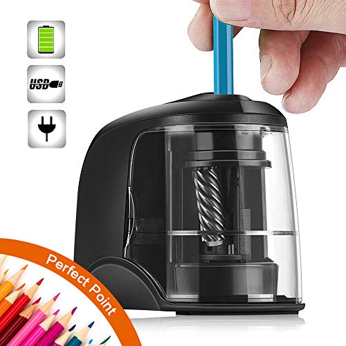 SMARTRO Electric Pencil Sharpener Best Heavy Duty Helical Steel Blade for Artists Kids Adults Colored Pencils