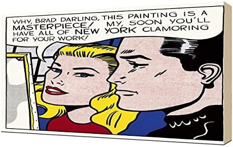 Framed Roy Lichtenstein Masterpiece Giclee Canvas Print Paintings Poster
